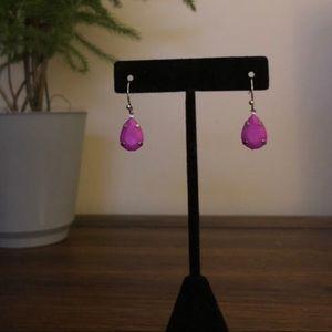 Small Purple Dangle Earrings